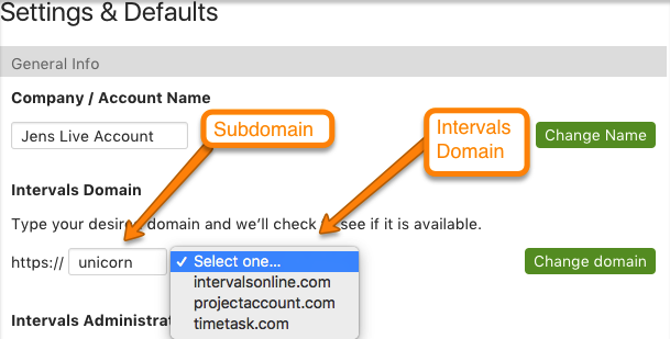 Change subdomain