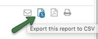CSV Report Export