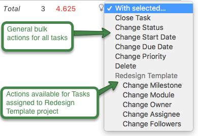 Bulk update tasks