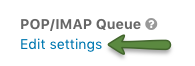 Edit POP/IMAP settings