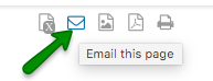 Email this page icon
