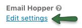 Hopper settings link