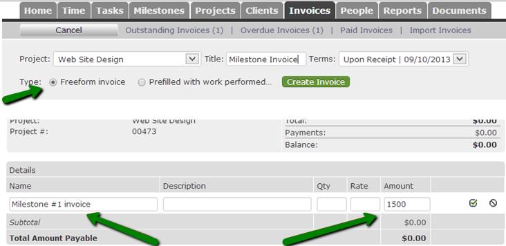 create-freeform-invoice