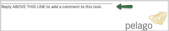 Email comment to task