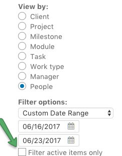 Filter - show inactive items