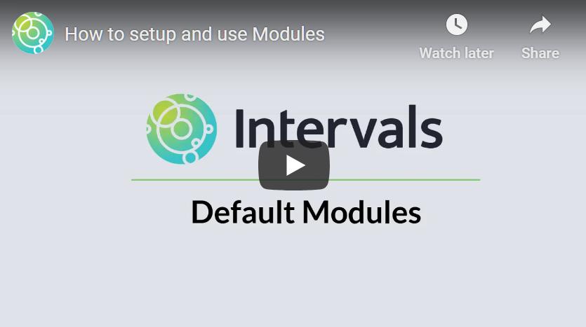 Default Modules