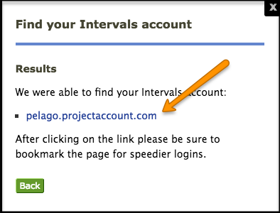 Intervals Login Link
