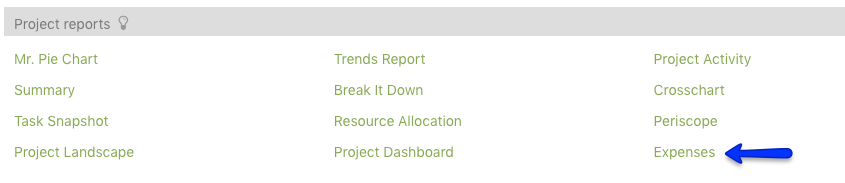Project Dashboard Reports