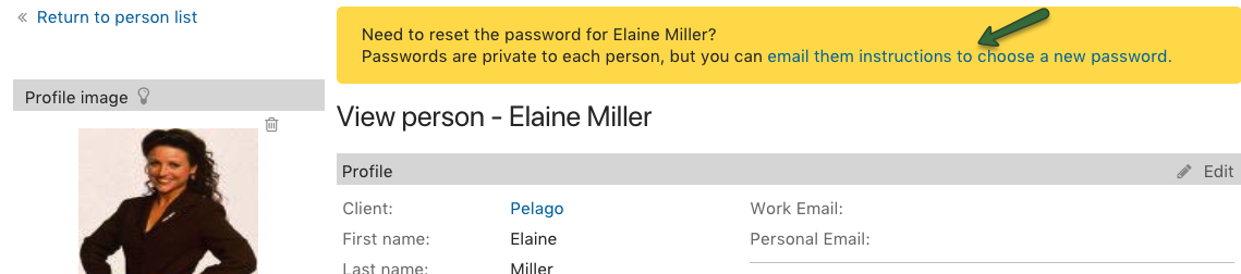 Send reset password