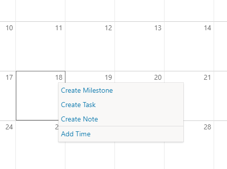 Calendar-Day right click