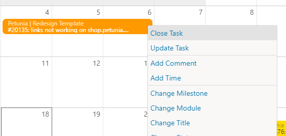 Calendar-right-click on task