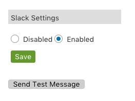 Slack setting